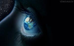 O mundo nos olhos